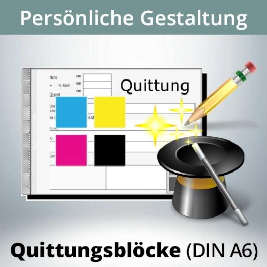 Quittungsblock Gestalten Din A6 Quer Ihr Eigenes Design Anschrift